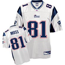 New England Patriots Randy Moss Replica White Jersey