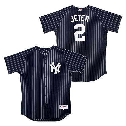 New York Yankees Derek Jeter Name & Number Reversed Pinstripe Jersey