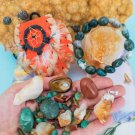 Prosperity Crystal Healing Pouch With Moss Agate Bracelet + Citrine Pendant