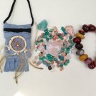 Self Love Relationsip Aid Crystal Pouch + Mookaite Bracelet