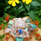 Rose Quartz Buddha Love Energy Crystal House Kit