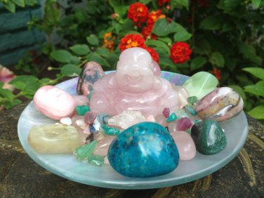 Rose Quartz Buddha Love Crystals Altar