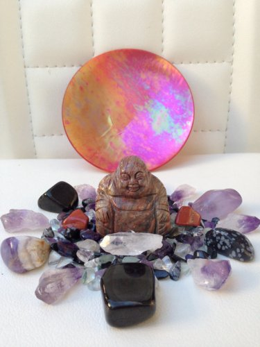 Red Wave Jasper Buddha Crystal Healing House Kit