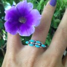 Natural Turquoise Ring in 925 Sterling. Size 8 Genuine Turquoise
