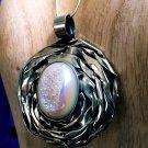 Rainbow Aura Quartz Artisan Handmade Pendant 925 Silver Statement Jewelry Piece