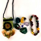Cellular Renewal Deep Healing Crystal Pouch + Mookaite Bracelet