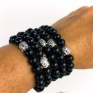 Black Onyx Buddha Bracelet Protection Jewelry