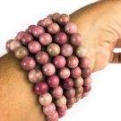 Genuine Natural Rhodonite Healing Bracelet