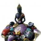 Meditating Buddha Protection Positive Energy Crystal Kit