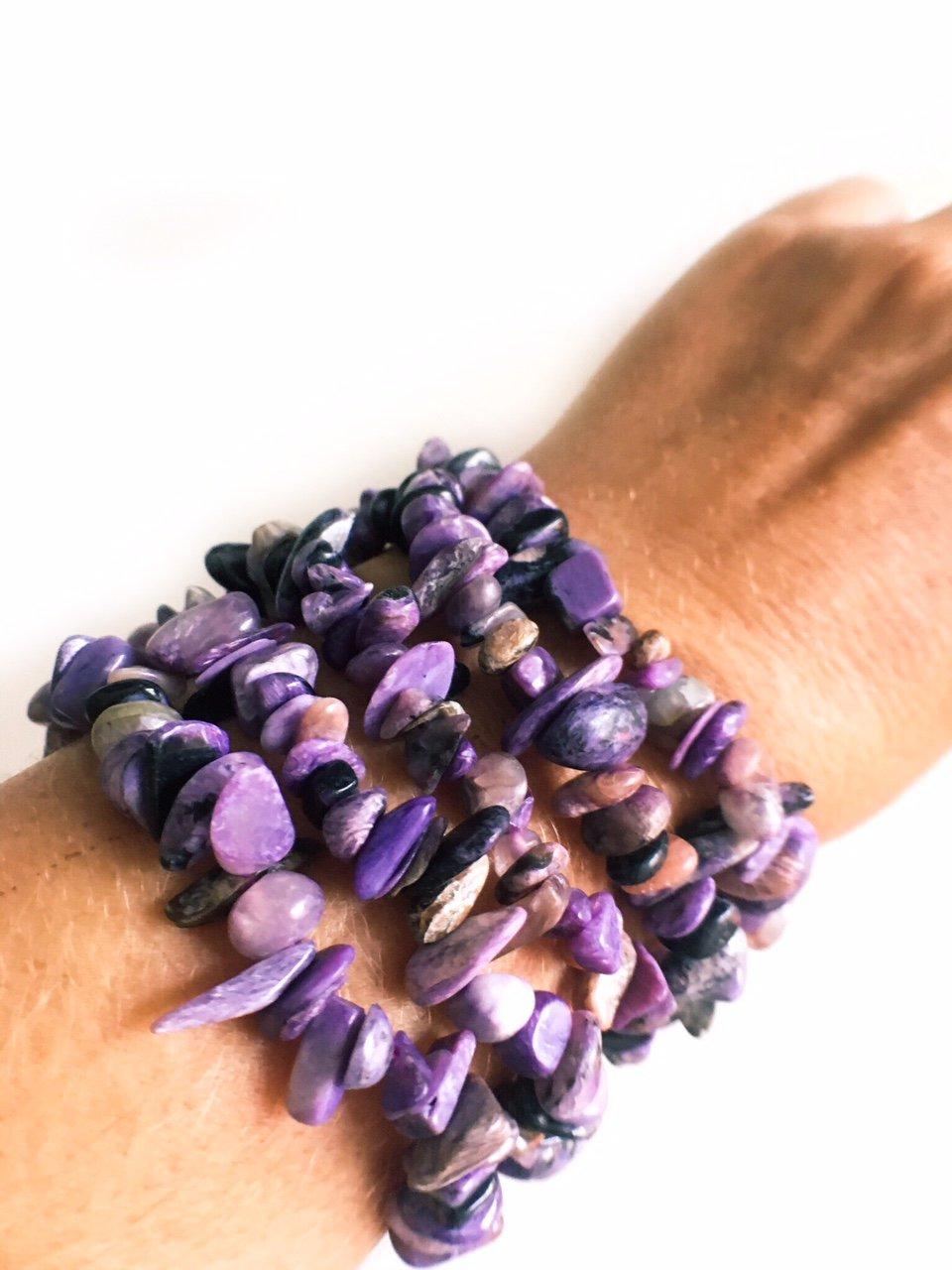 Charoite Healing Bracelet 100% Natural Genuine Charoite from Russia