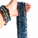 Natural Blue Kyanite Long Necklace