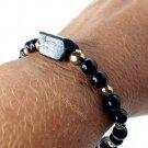 Black Tourmaline Bracelet 925 Sterling Silver Design #1