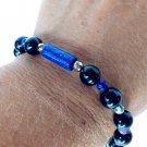 Black Tourmaline Bracelet 925 Sterling Silver Design #2
