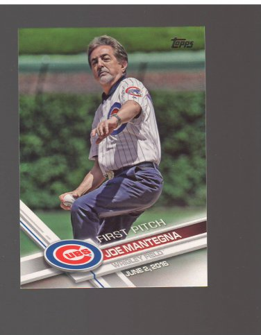 2017 Topps First Pitch #FP9 Joe Mantegna Team: Chicago Cubs