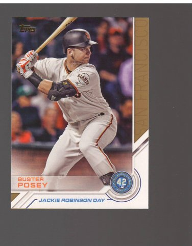 2017 Topps Jackie Robinson Day #JRD25 Buster Posey Team: San Francisco Giants
