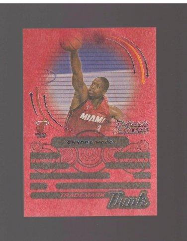 2006-07 Topps Trademark Moves Dunk Wood Red #TDU3 Dwyane Wade 31/35 Team: Miami Heat