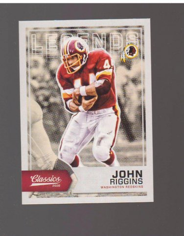 2016 Classics Photo Variation #177B John Riggins SP Team: Washington Redskins