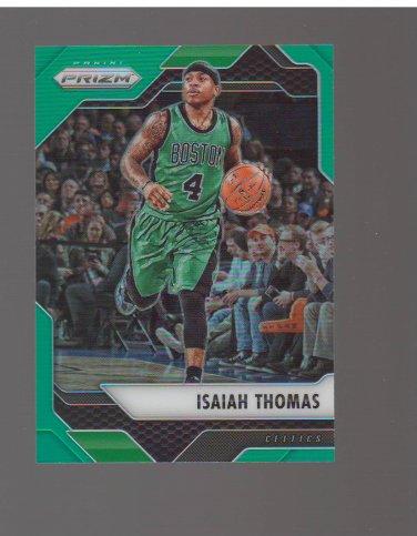 2016-17 Panini Prizm Prizms Green #42 Isaiah Thomas Team: Boston Celtics