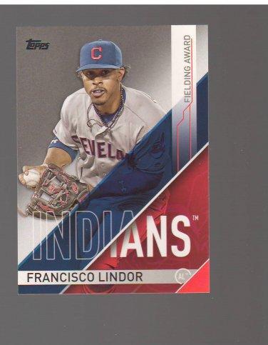 2017 Topps Golden Glove Awards #GG11 Francisco Lindor Team: Cleveland Indians