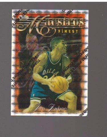 1996-97 Finest Refractors #101 Jim Jackson Team: Dallas Mavericks