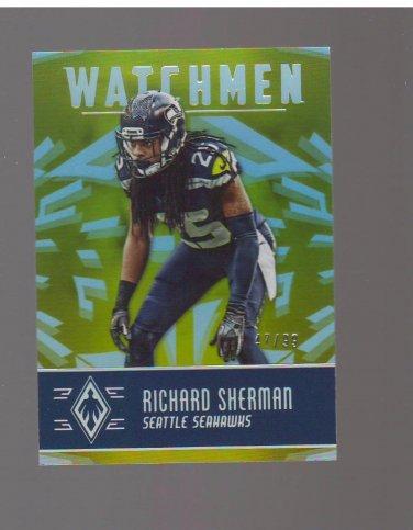 2016 Panini Phoenix Watchmen Yellow #WMRS Richard Sherman 47/99 Team: Seattle Seahawks