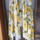 Fresh lemon oversized silk scarf shawl 100% mulberry silk