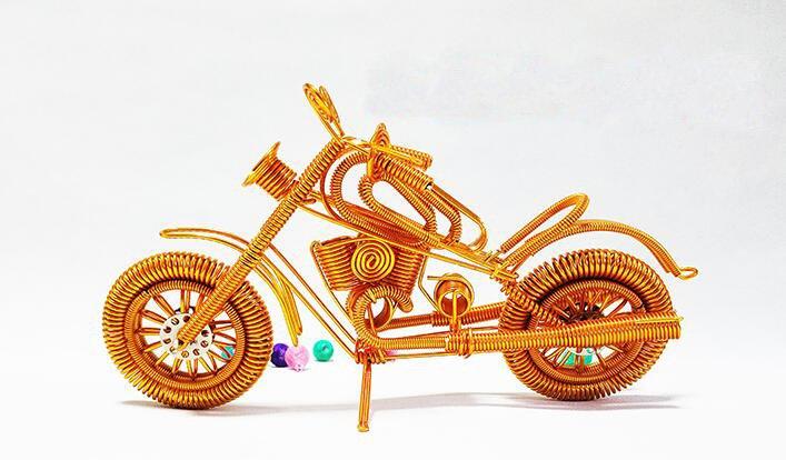 Groove Motorcycle Semi - hard Aluminum Crafts Creative Handmade Student Work Home Furnishings