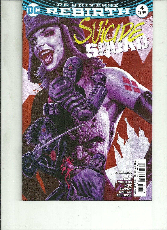 SUICIDE SQUAD #4 REBIRTH VARIANT COVER DC Comics 1ST PRINT 2016