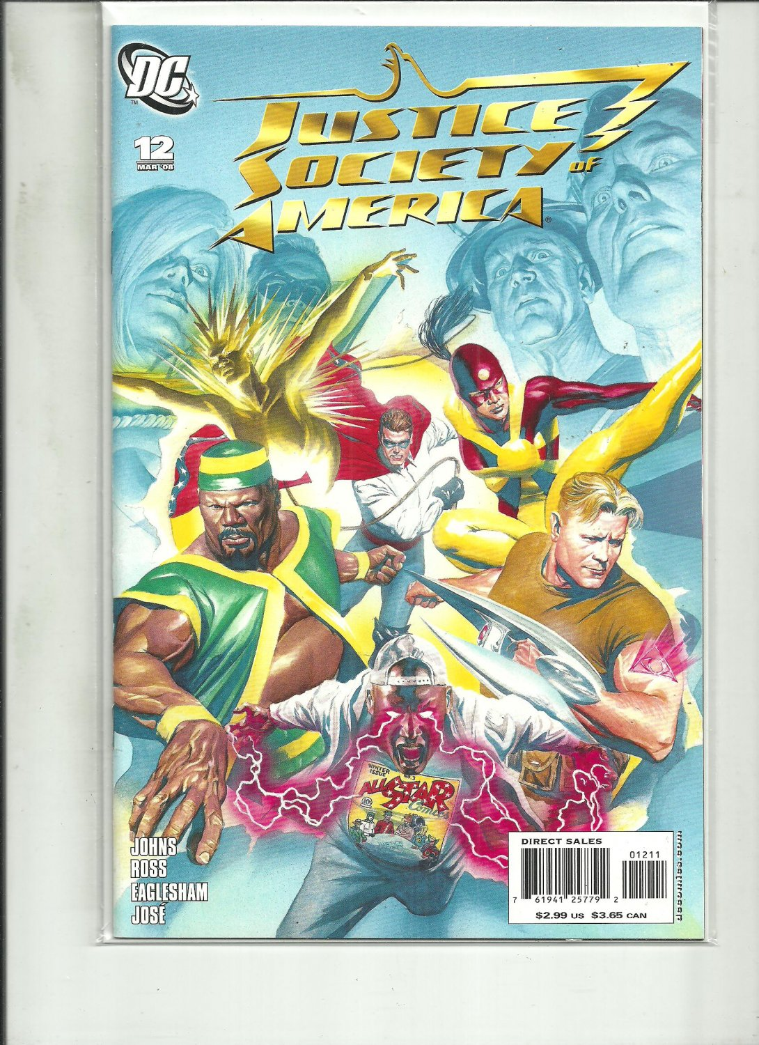 JUSTICE SOCIETY OF AMERICA #12 DC COMICS 2008 JOHNS NM