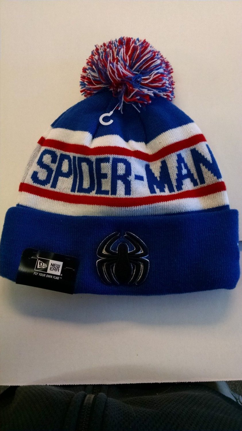 "SPIDERMAN New Era ""Biggest Fan Redux"" Cuffed Knit Hat MARVEL COMICS"