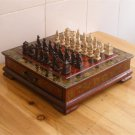 Terracotta Army Chess Set Ancient War Theme Chessboard Collectible - Free Shipping