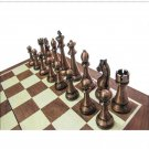 High Quality Classic Metal Pieces Wooden Chessboard Set - Free Shipping