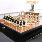 Chess Set Top Quality Collectors Metal Wooden Classic Modern Rare Unique Set - Free Shipping