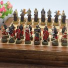 Russia Mongolia Chess Set Wooden Board Collectors Unique Gift - Free Shipping