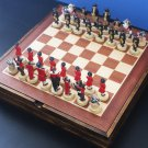 Chess Set American Independence War Wooden Board Collectors - Free Shipping
