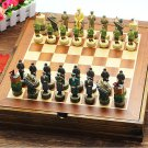 Chess Set World War 2 Wooden Board Collectors Unique Gift - Free Shipping