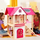 Gift Idea Dollhouse Wooden Set Children Kids Miniature Doll House - Free Shipping