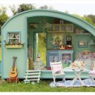 Dollhouse The Caravan DIY Wooden Cool Gift Kids Toy - Free Shipping