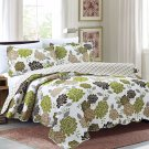 3 Piece Quilt Set Emma-Green (QueenSize)