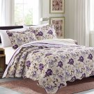 3 Piece Quilt Set Emma-Purple (QueenSize)