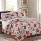 3 Piece Quilt Set Emma-Red (QueenSize)