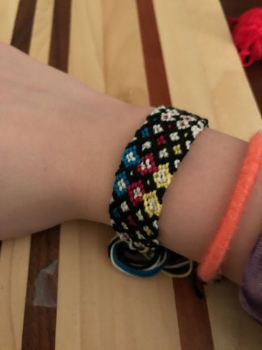 Triple Diamond style friendship bracelet