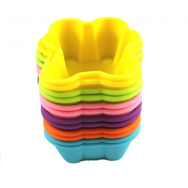 12-Pack Steadys BM-0133L Reusable Non-Stick Bear Premium Silicone Baking Cups