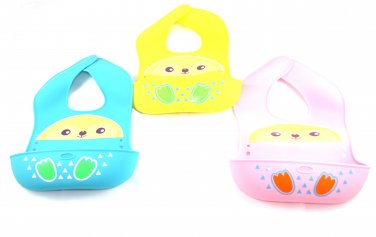 3-Pack Steadys OT-0161 Premium Food-Grade Silicone 3 colors Baby Bucket Bib