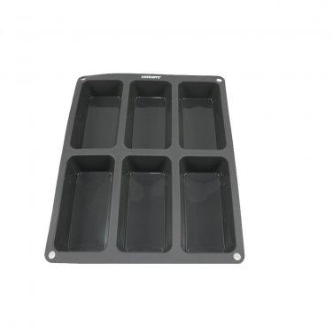 6 x 6 oz-Cavity Steadys BC-0611 Premium Silicone Rectangle Muffin Soap Pan/Mold