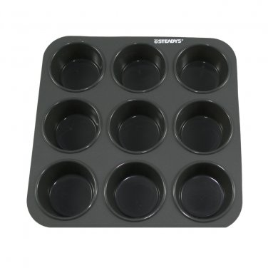 9 x 0.8 oz-Cavity Steadys BC-0901 Premium Silicone Mini Round Muffin Chocolate Pan/Mold
