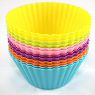 12-Pack Steadys BM-0116A  Reusable Non-Stick Mini Round Premium Silicone Baking Cups