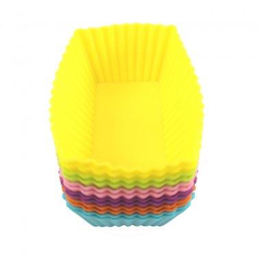 12-Pack Steadys BM-0131  Reusable Non-Stick Mini Rectangle Premium Silicone Baking Cups