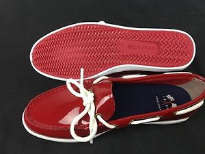 Cole Haan Women's Nantucket Camp MOC RED Patent Leather Shoes~Sz-10~NEW~ret-$100