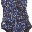 SPEEDO Women's 1 PIECE SWIMSUIT/Swimwear~Black/Blue/Purple~Size~6~NWT